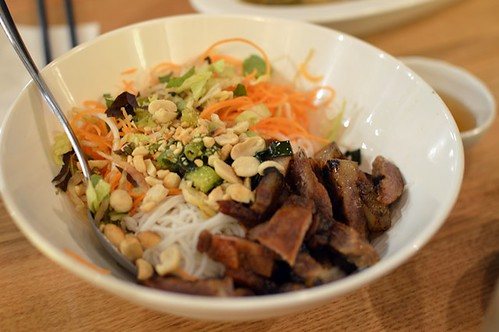 Vermicelli with marinated pork chop