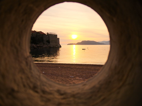 sunset hole montenegro coucherdesoleil couchersoleil crnagora svetistefan