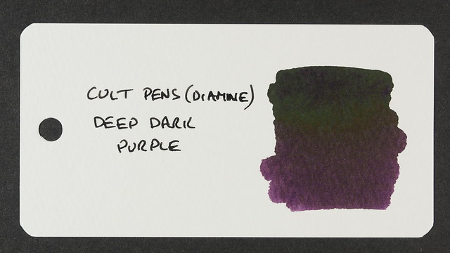Cult Pens (Diamine) Deep Dark Purple - Word Card