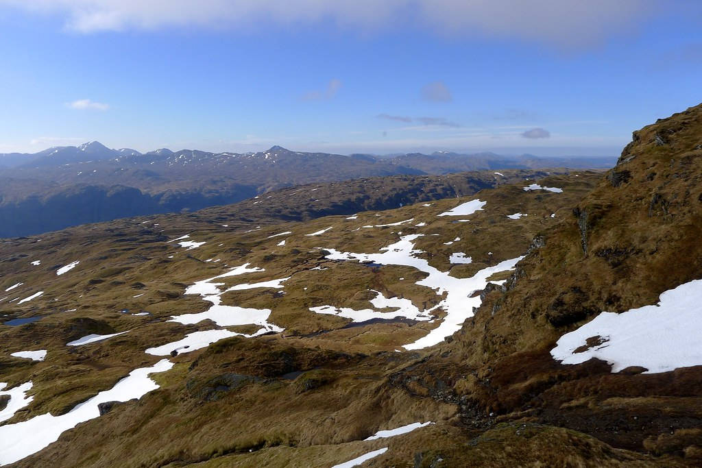 Arrochar and Beinn Chas from ascent of Beinn Bhuidhe