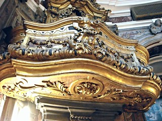 Choir - sculpted and gilded wood (about 1685) by Filippo Bruno - Santa Maria Egiziaca a Forcella Church in Naples