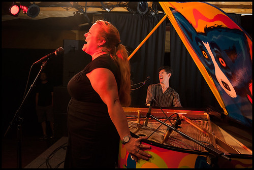 Josh Paxton and Debbie Davis at Piano Night 2015. Photo by Ryan Hodgson-Rigsbee (rhrphoto.com)