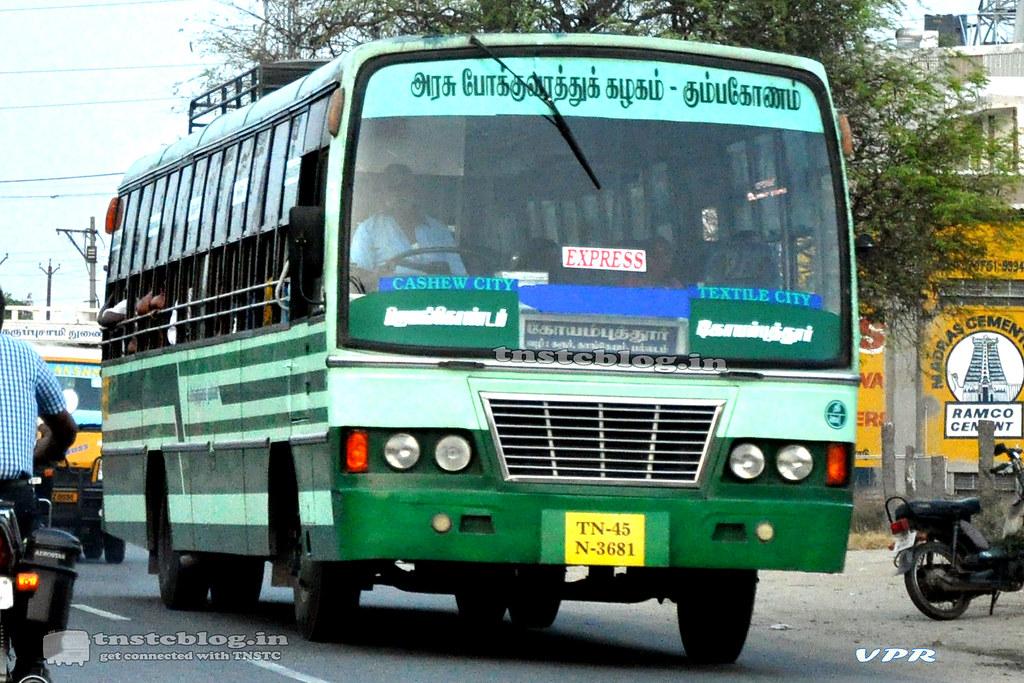 TN-45N-3681 of Jayankondam Depot Route Jayankondam - Coimbatore via Poyyur, Trichy, Karur, Kangeyam, Palladam