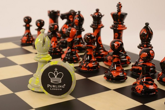 Street art invades the battlefield: New Art Chess Sets by Purling London