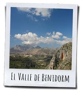 Een prachtige vallei in het achterland van Benidorm