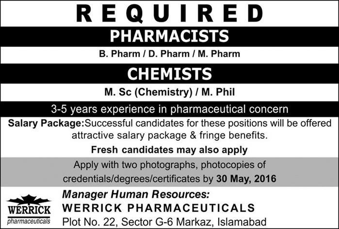 WERRICK Pharma Carrer Opportunities