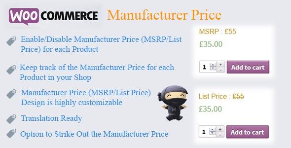 WooCommerce Manufacturer Price v1.7