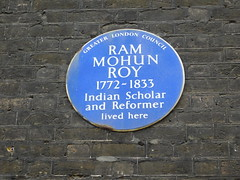 Photo of Ram Mohun Roy blue plaque