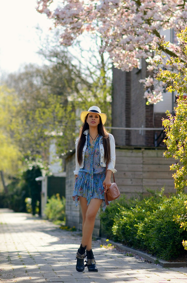 DSC_7418 Tamara Chloé, Zara Floral dress, Gucci Soho Disco bag, Panama hat