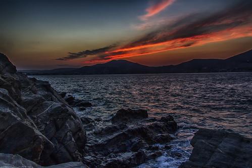 sunset mediterranean mediterraneo paros naoussa egeo aegeansea cicladas canoneos60d hdrefex