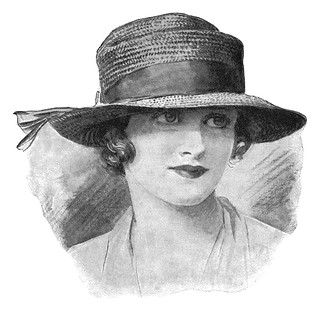 Detail from a 1922 Robert Heath Hats ad