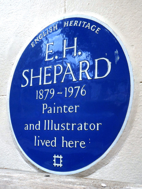 E. H. Shepard blue plaque - E. H. Shepard 1879-1976 painter and illustrator lived here