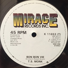 T.S. MONK:BON BON VIE(LABEL SIDE-A)