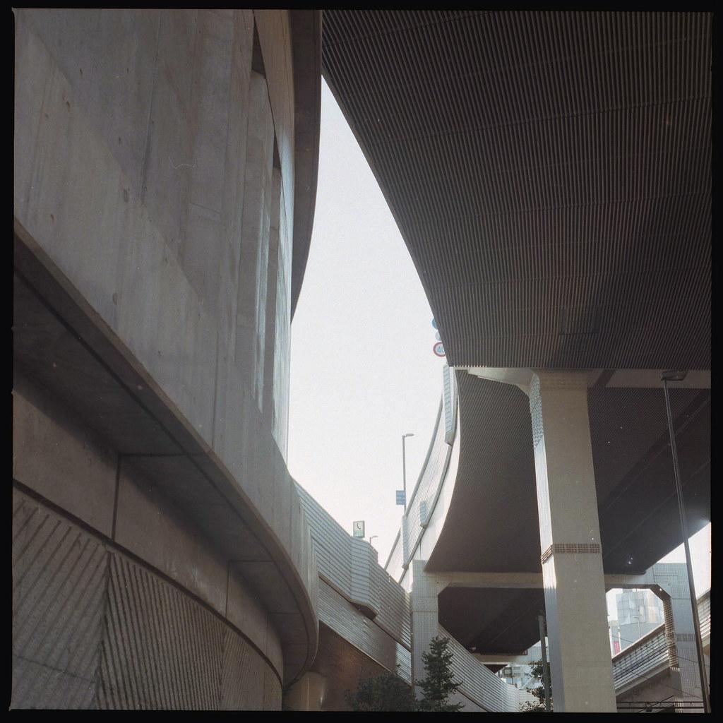 大橋ジャンクションと首都高速3号渋谷線