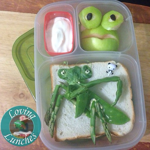 Loving the last of this series of #KungFuPanda @easylunchboxes … Mantis inspired 😊🐼 #funwithfood #funfood #easylunchboxes