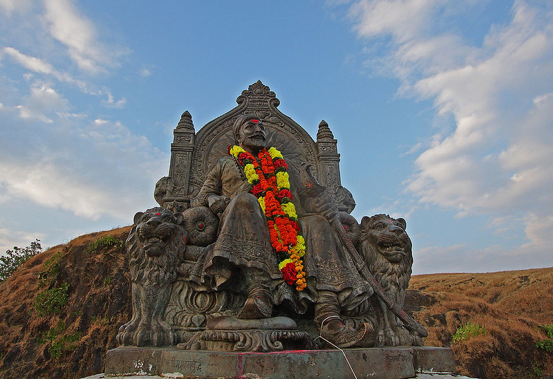 Statue of Shivaji Maharaj at Raigad fort, Maharashtra