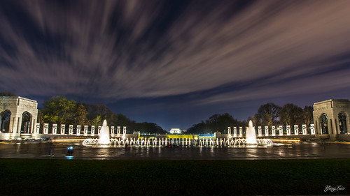 usa night dc memorial cloudy worldwar2