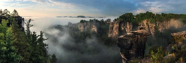Sächsische Schweiz - Die Bastei an der Wehlnadel
