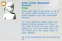 Child Female Mannequin Realistic