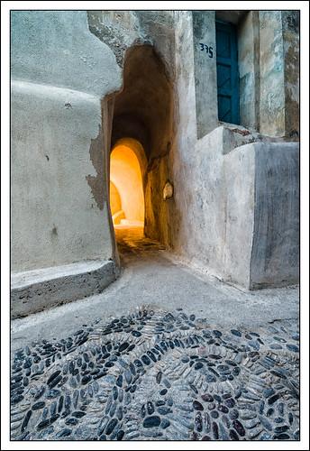 colour texture santorini greece gr passage cobbles castelli emporio