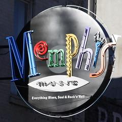 Memphis Music neon sign - Beale Street