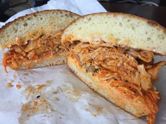Spicy pork sandwich - The Sentinel