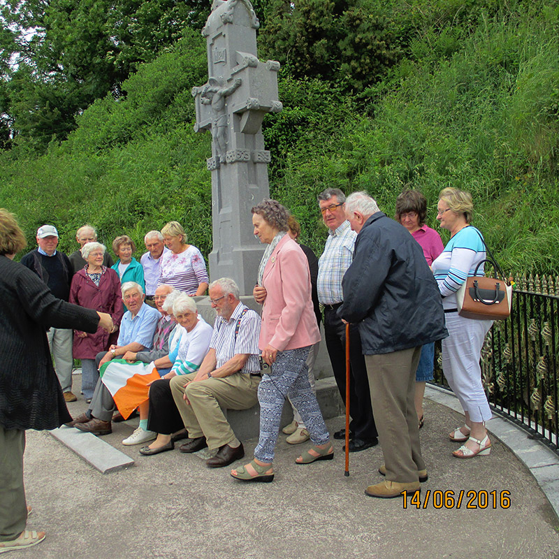 Boyle Holiday Group at Michael Collins memorial