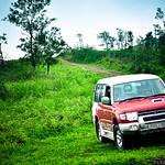 Mitsubishi Pajero at Idukki Hillside