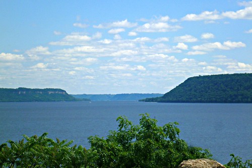 along lake pepin from Wisconsin highway 35-8