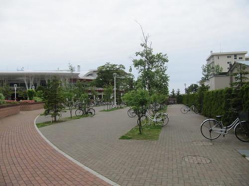 函館競馬場の駐輪場