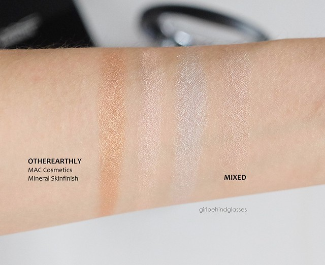 MAC Mineralize Skinfinish Otherearthly swatches