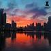 Amanecer cinta costera Panamá City by Diogenes Torrellas