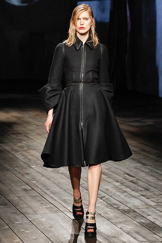 Flared Skirt Coat Dress   Flared Skirt #Fashion #Trend for Fall Winter 2013   Prada Fall Winter 2013 #mfw