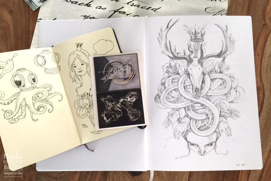 My sketch books