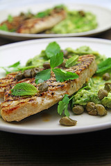 Turkey Steaks with Lemon & Mint Avocado