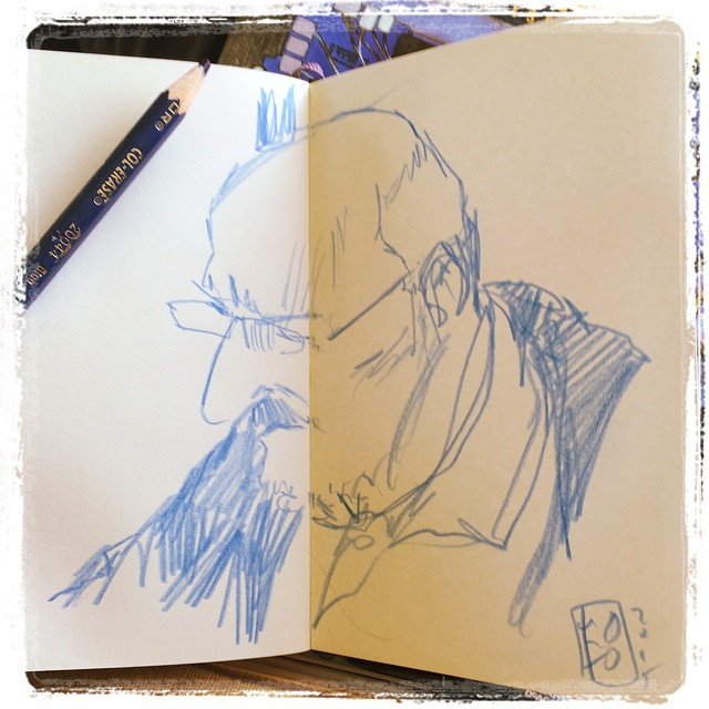 #train #portrait #urbansketch #colerase