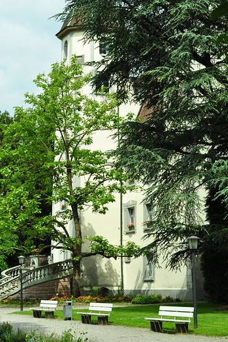 Bad Säckingen Hochrhein Trompeterschlösschen Schloss Schönau Rückseite Schlosspark