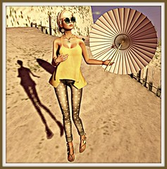 coldLogic kylie top, byron pants NEW!-Petite Mort glasses 10L- ArisAris sandals NEW - Dark Mouse jewelry Dark Mouse FREE hair