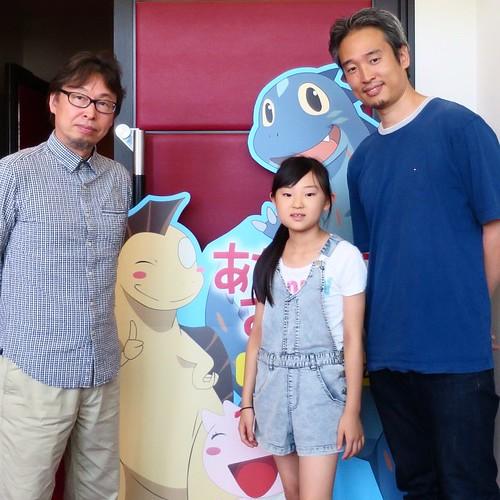 映画『あなたをずっとあいしてる』の原作者、宮西達也さんと一緒に写真を撮ってもらいました。 #絵本ナビ #試写会 #あなたをずっとあいしてる