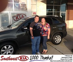 Congratulations to Ashely Westbrook on your #Kia #Sorento from Kyle Bennett at Southwest KIA Rockwall! #NewCar