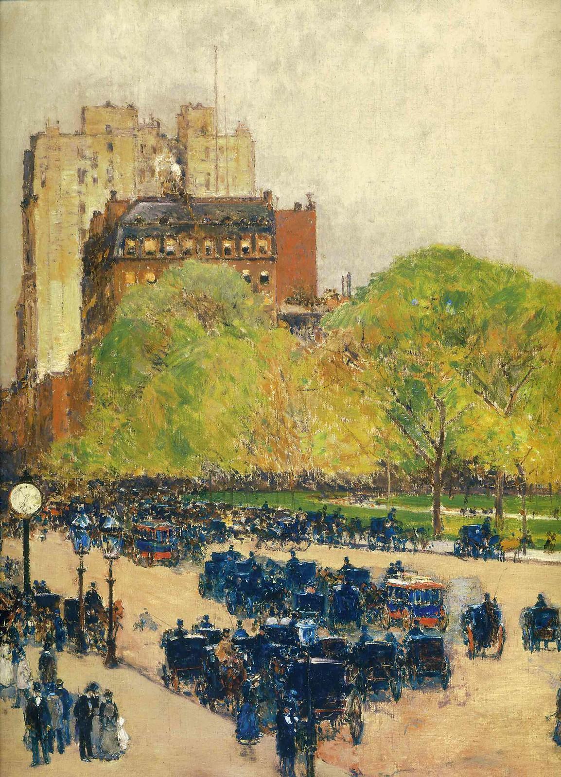Spring Morning In The Heart Of The City by Childe Hassam, 1890