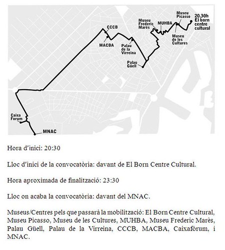 Treballadors dels museus de Barcelona es mobilitzen