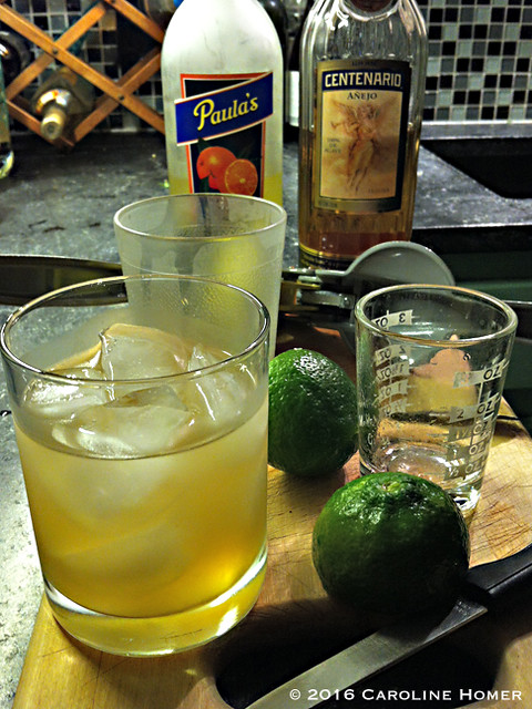 Margaritas with homegrown limes