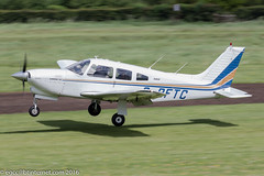 G-BFTC - 1978 build Piper PA28R-201T Turbo Arrow III, arriving on Runway 26L at Barton