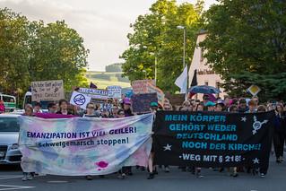 """""""Schweigemarsch für das Leben"""" und Gegenprotest am 06. Juni 2016 in Annaberg-Buchholz"""