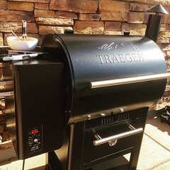Made the crossover today to a Traeger smoker and grill combo (following catching our old grills propane take on fire Friday night- having to use a fire extinguisher to restore peace).    Let's see what all the hype is about