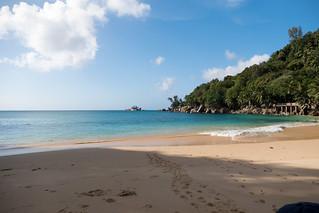 Hình ảnh của Anse Soleit Các bãi biển với chiều dài 121 mét. sc seychelles mahe anselilot