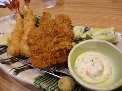 Tonkatsu and Deep Fried Shrimp Dinner @Katsu-Masa,…