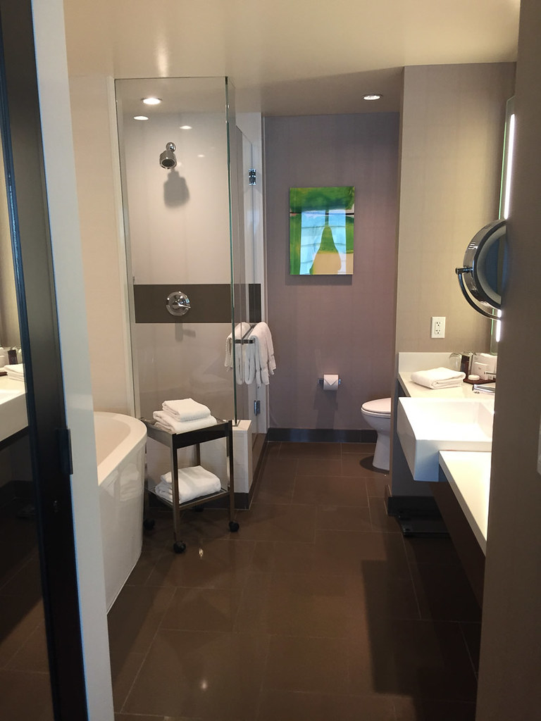 Vdara Deluxe Suite Bathroom