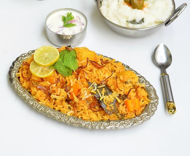 Hyderabadi veg biryani